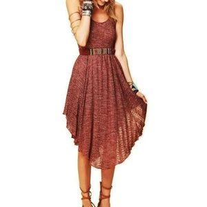Free People Crochet Knit Midi Dress